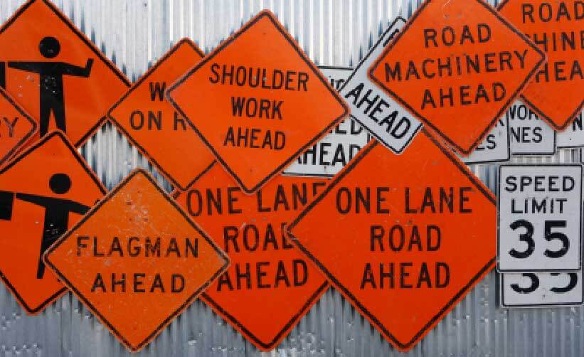 Signarama can make safety signs, fence banners and any other custom sign for a contruction site.