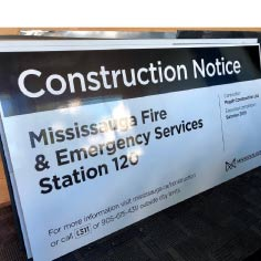 construction notice sign