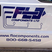 Vehicle Logo with contact information