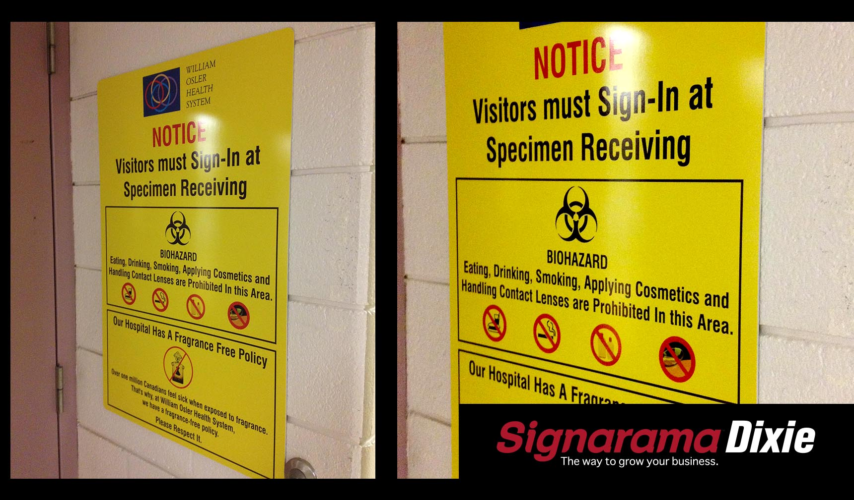 safety signs and labels