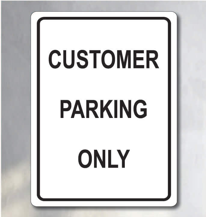 customer parking sign for sale