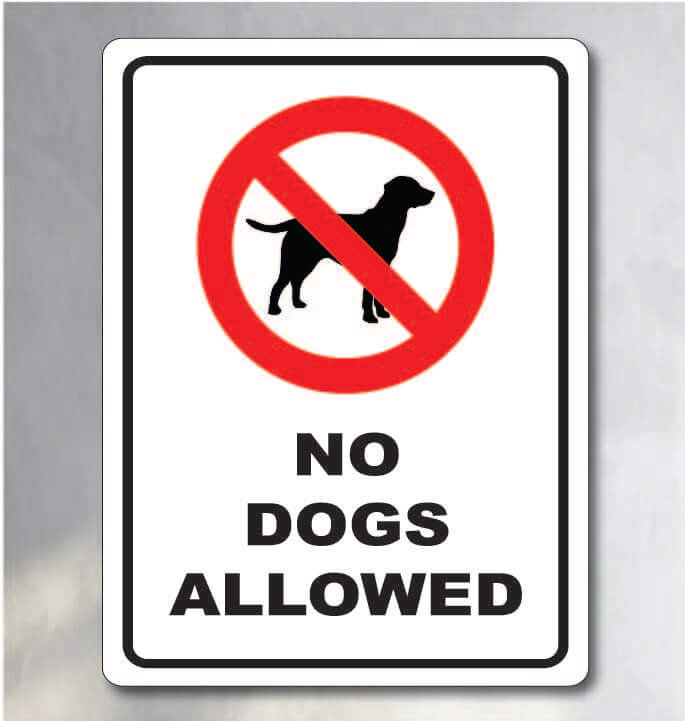 no dogs allowed sign for sale