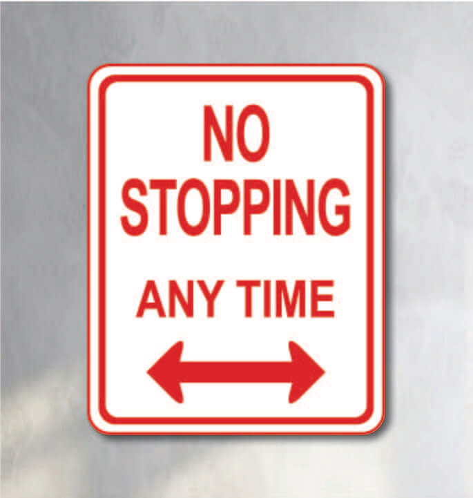 no stopping anytime sign for sale