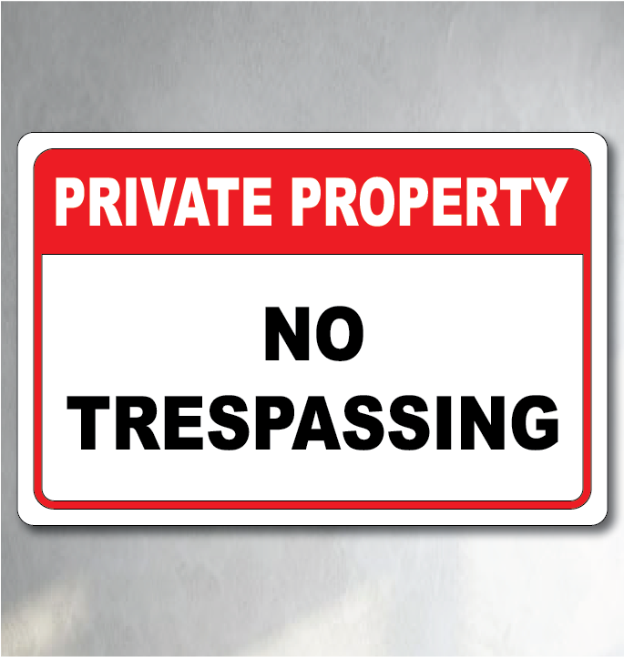 no trespassing sign for sale