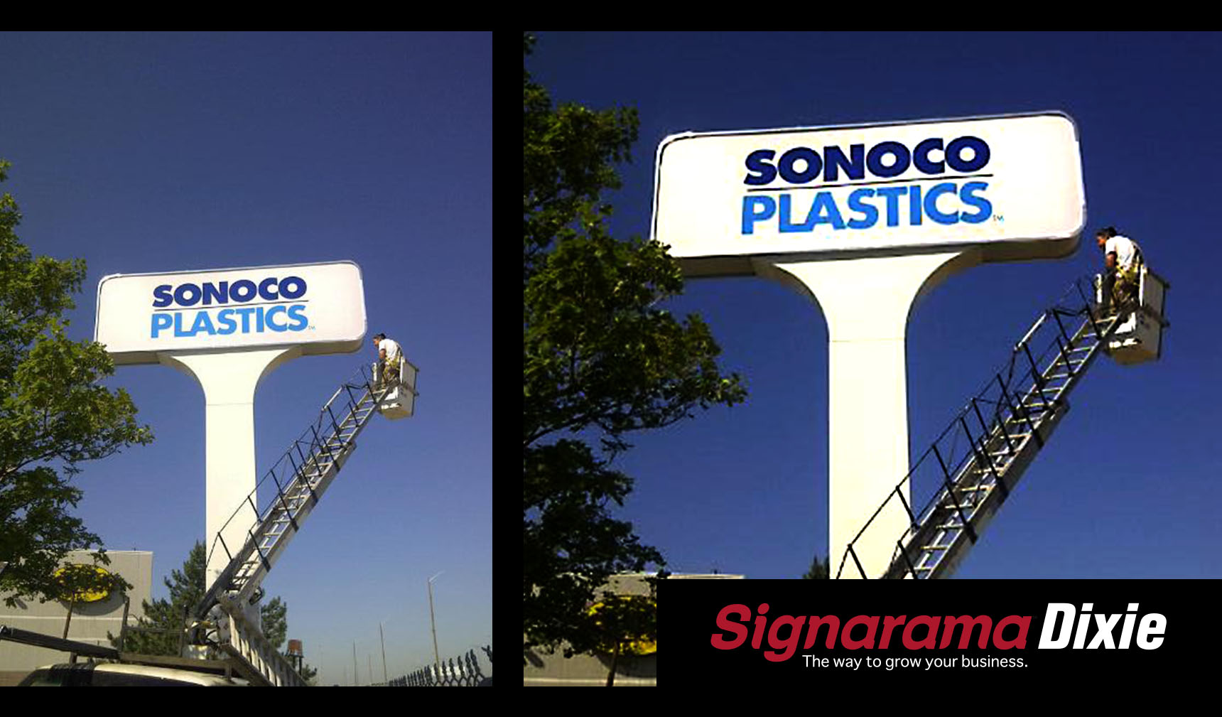 customized pylon sign